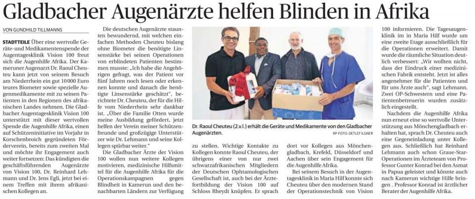 Gladbacher Augenärzte helfen Blinden in Afrika