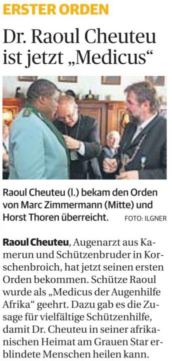 """Dr. Raoul Cheuteu ist jetzt """"Medicus"""""""