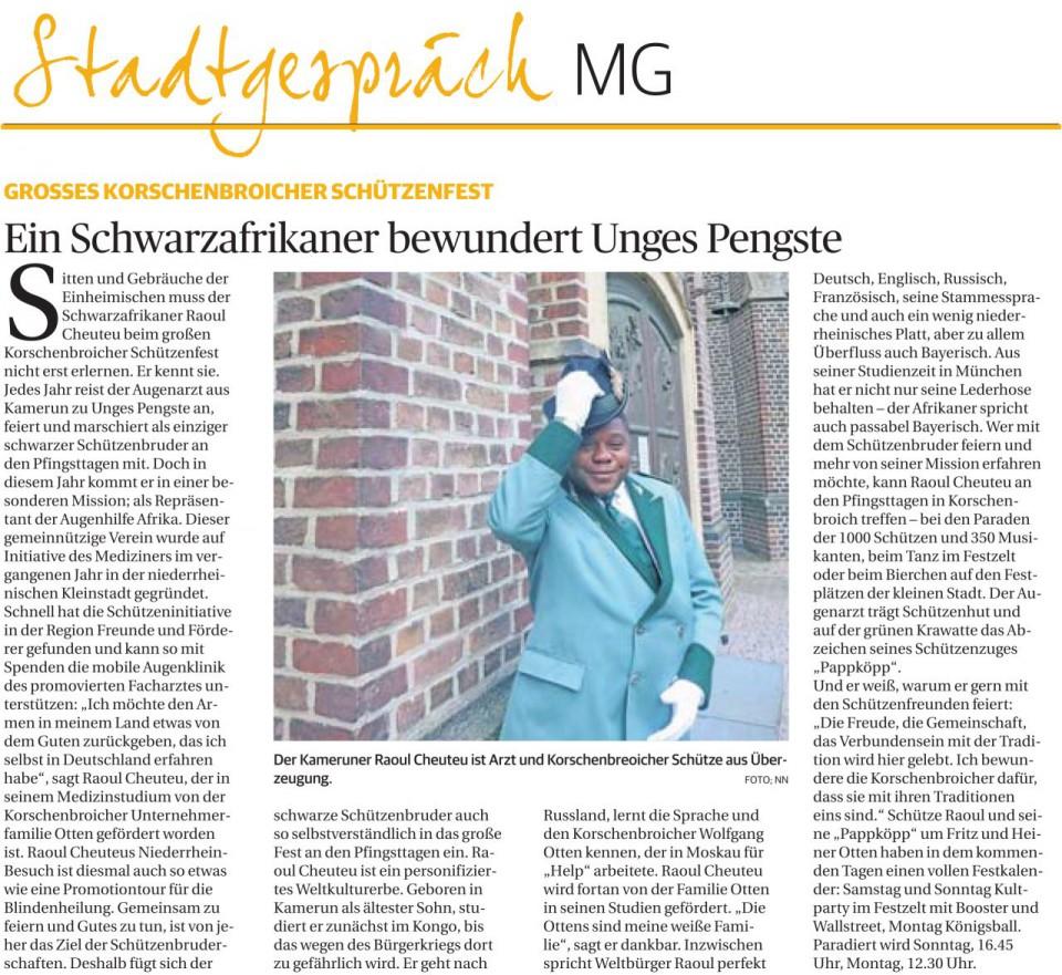 Stadtgespräch Mönchengladbach - Ein Schwarzafrikaner bewundert Unges Pengste