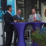 Ludger Baten im Gespräch mit Michael Schmuck und Landrat Hans-Jürgen Petrauschke