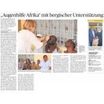 Augenhilfe Afrika mit bergischer Unterstützung