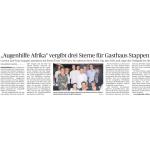 """Augenhilfe Afrika"""" vergibt drei Sterne für Gasthaus Stappen"""