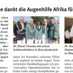 Zu Unges Pengste dankt die Augenhilfe Afrika für Lichtblicke