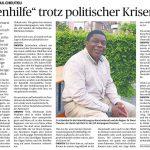 Interview mit Raoul Cheuteu: Augenhilfe trotz politischer Krisen