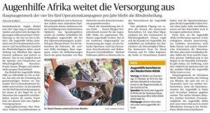 Augenhilfe Afrika weitet die Versorgung aus