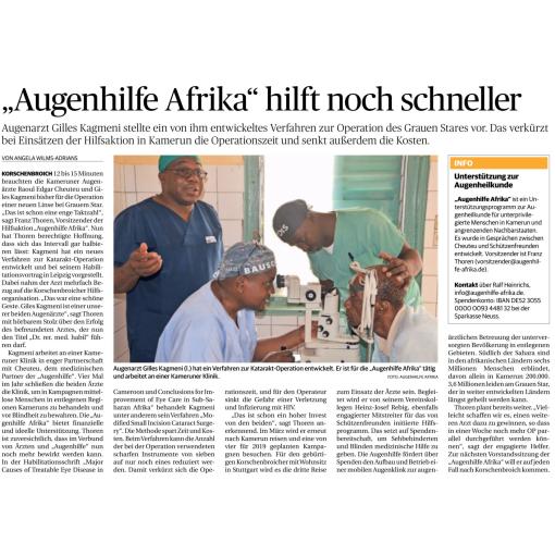 Augenhilfe Afrika hilft noch schneller